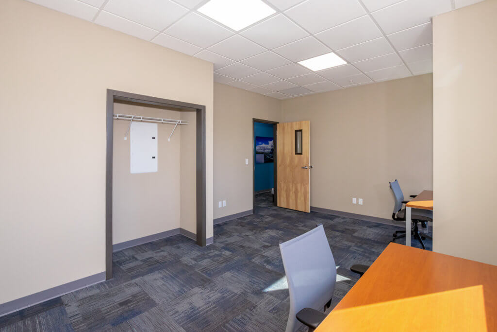 Large closet space is available in most offices