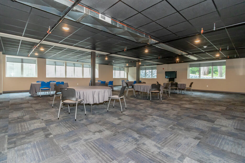 Meeting and event space with windows that open