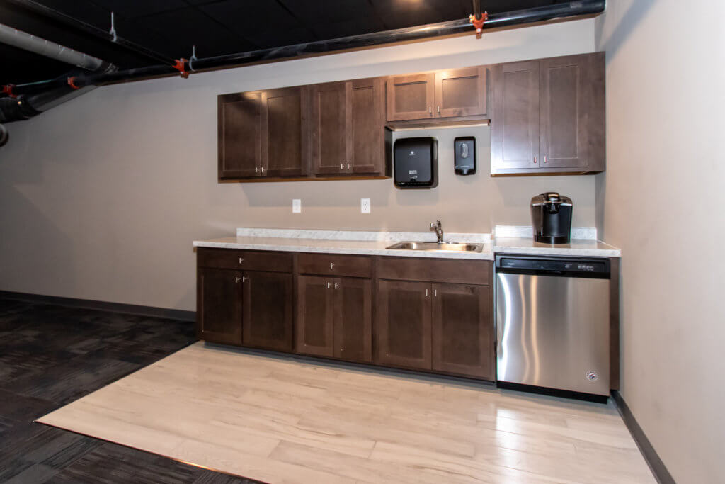 Kitchen area adjoins the Grand Hall